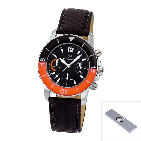 Chronograph ´´Spectra Chrono Damen schwarz/orange´