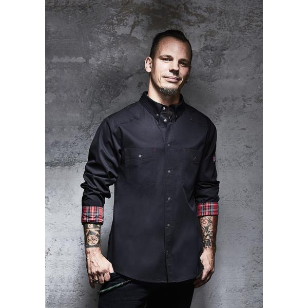Kochhemd Button-Down ROCK CHEF®-Stage2