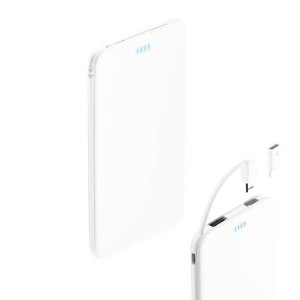 3-in-1 Powerbank  4.000 mAh mit 2-in-1 Kabel und Type
