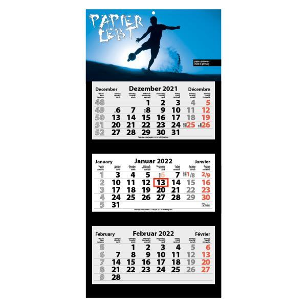 3-Monats Faltkalender ´Tres-Light Plus´